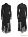 Black Gothic Asymmetric Punk Mesh Stitching Dress