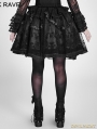 Black Gothic Lolita Palace Style Short Skirt