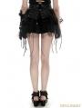 Black Gothic Bandage Two-Piece Punk Spiky Skirt