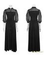 Black Vintage Gothic Palace Style Long Dress