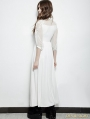 White Vintage Gothic Palace Style Long Dress