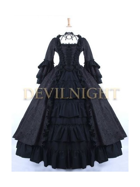 black victorian ball gown - photo #1