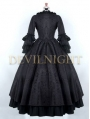 Black Gothic Antoinette Style Victorian Ball Gowns