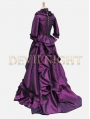 Purple Victorian Bustle Gown