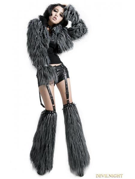 Gothic Punk Long-Furry Ultra-Short Jacket for Women ... | 450 x 597 jpeg 122kB