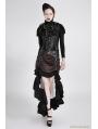 Black Steampunk High Collar Vest