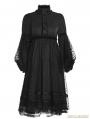 Black Gothic Lolita Puff Sleeves Dress