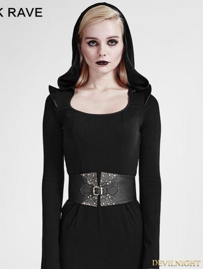 Black Gothic Palaces Pattern Girdle