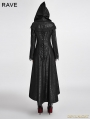 Black Gothic Dark Angle Long Hooded Coat for Women