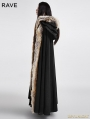 Black Gothic Wool Collar Long Cloak for Women