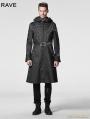 Black Gothic Men Coat with Hoody