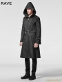 Black Gothic Men Coat with Hoody