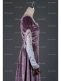 Elegant Purple Velvet Vintage Medieval Dress