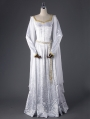White Elegant Vintage Medieval Dress