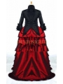 Black and Red Two Tone Victorian Dress