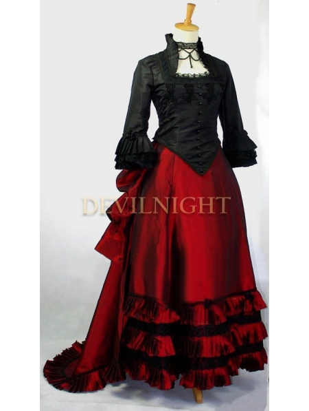Black And Red Two Tone Victorian Dress Devilnight Co Uk