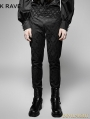 Retro Black Gothic Men's Long Trousers