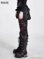 Black Gothic Broken Mesh Leggings