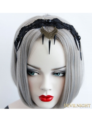 Black Punk Vintage Lace Halloween Party Headdress