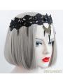 Black Punk Vintage Lace Halloween Party Headdress