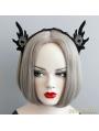 Black Halloween Elf Ear Party Headress