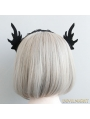Black Halloween Elf Ear Party Headress