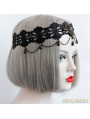 Black Vintage Lace Queen Holloween Party Headdress