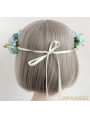 Blue Flower Garland Wedding Headress