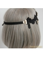 Black Vintage Lace Predant Headdress