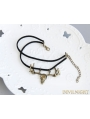 Black Gothic Bronze Antlers Skeleton Ankle Bracelet