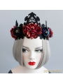 Black Gothic Wedding Crown Party Headdress