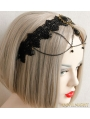 Black Gothic Dark Lace Party Headdress