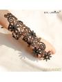 Black Gothic Lace Flower Branch Gloves