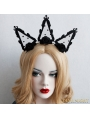 Black Gothic Queen Holloween Party Headdress