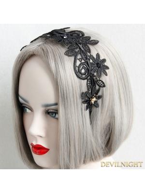 Black Gothic Lace Elegant Headdress