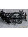 Black Gothic Lace Elegant Headdress