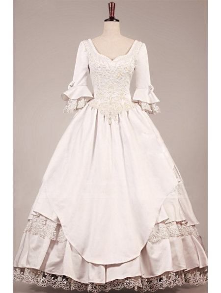 Wedding dress with 34 lace sleeves