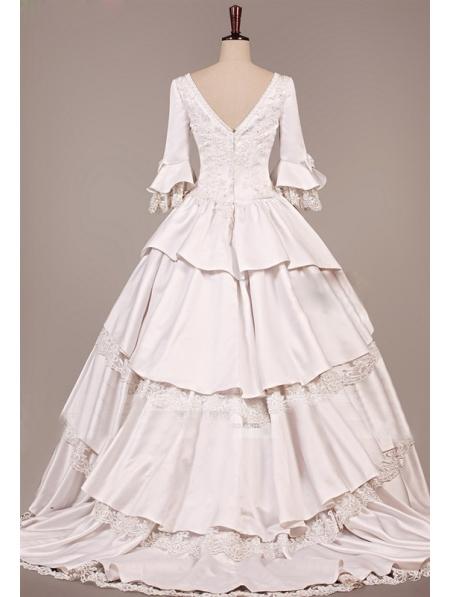 Vintage victorian wedding dress for Vintage victorian wedding dresses