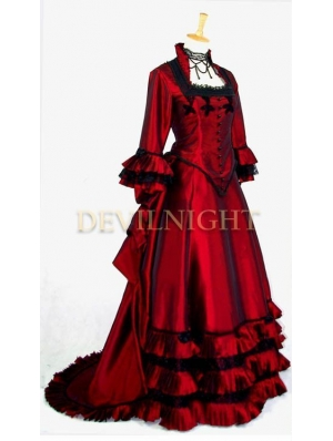 Red Victorian Fantasy Gown