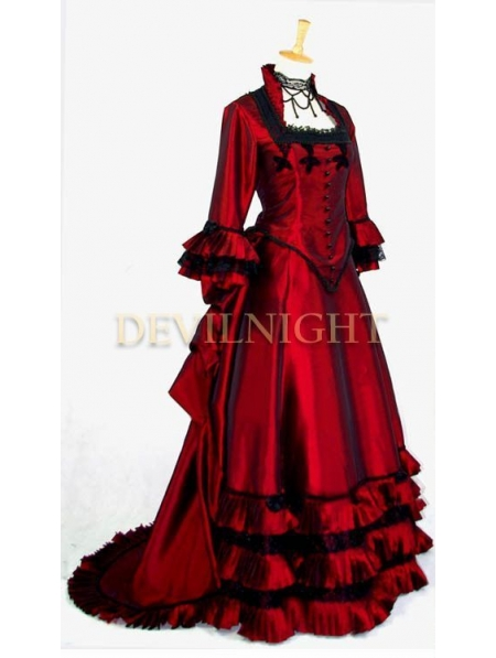 Red Victorian Fantasy Gown Devilnight Co Uk