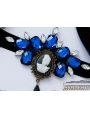 Black and Blue Gothic Skeleton Holloween Party Headdress