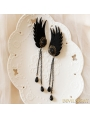 Black Gothic Wing Holloween Party Earring