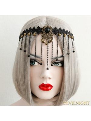Black Gothic Vintage Tassel Headdress