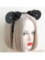 Black Gothic Lace Horn Holloween Headdress