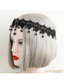 Black Gothic Vintage Elegant Lace Headdress