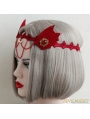 Red Gorhic Devil Ear Cosplay Holloween Headdress