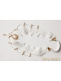 White Wedding Lace Pendant Eledant Headdress