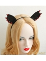 Black Gothic Devil Ear Holloween Headdress