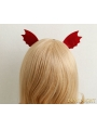 Red Gothic Devil Ear Holloween Headdress