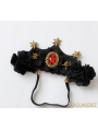Black Gothic Queen Crown Party Headdress
